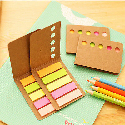 2pcs Candy Color Paper Cover Memo Pad N times Sticky Notes Notepad Marker ss