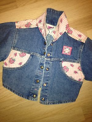 Little Levis Girls Denim Jacket - Vintage - Age 4 - Usa - Very Good Condition !