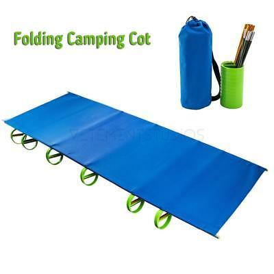 Ultralight Folding Camping Cot Portable Bed With Bag Hiking Caravan Sleeping Bed