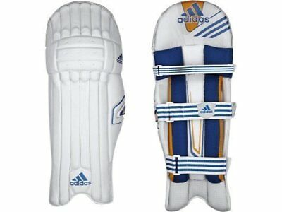 2017 adidas CX11 White Blue Batting Pads Size Mens Right Hand