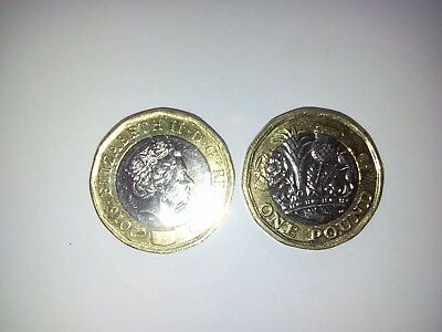 New £1 One Pound Uk Coin  2016 Very Rare Collectible Gift