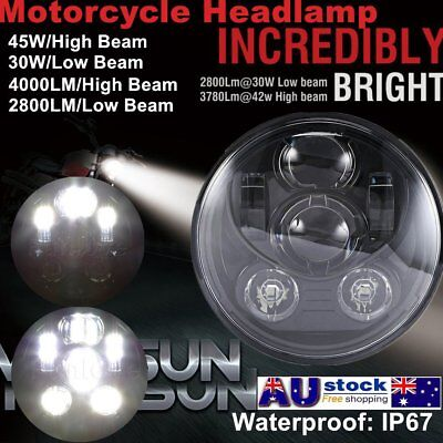 "5-3/4 5.75"" 45W Daymaker Projector LED Headlight Harley Davidson Motorcycle P6"