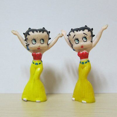 2x 2.5'' Vintage Betty Boop Girl Collectible Figure Toys 1995