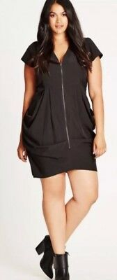 Ladies City Chic Black Dress Size S BNWT
