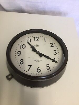 Vintage Bakelite 40's *SMITH SECTRIC* ELECTRIC WALL CLOCK Australia England