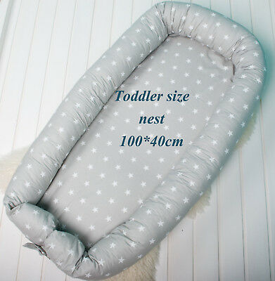 Toddler size nest with Removable cover, co sleeper, crib, pod, grand nest