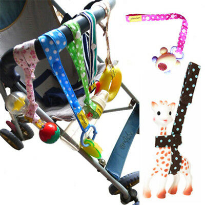 Child Kids Baby Stroller Toy Secure Button Strap Loss Prevention Safe Cotton
