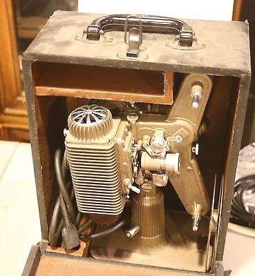 vintage Revere eight movie projector with case, 8mm, nice