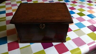 Fine Late 17Th Century Welsh Oak Deed Box With Iron Ring Handles C1680-1700