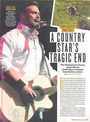 "Troy Gentry, Country Music Star, 2017 Magazine Article. ""Star's Tragic End"""