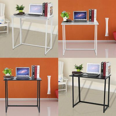Folding Computer Desk Foldable Workstation Home Office Collapsible Laptop Tables