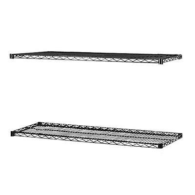 """Lorell Extra Shelves f/ Wire Shelving 36""""x18"""" 2/CT BK 69146"""