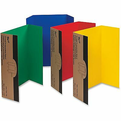 "Pacon Single Walled Presentation Board Tri-fold 48""x36"" 24/CT AST 3765"