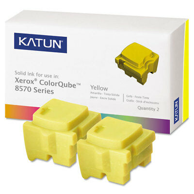 Katun 39399 Compatible 108R00928 Solid Ink Stick Yellow 2/BX
