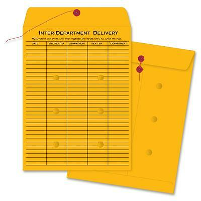 "Business Source Inter-Dept Envelopes Str/Button 32lb 10""x13"" 100/BX BKFT 04545"