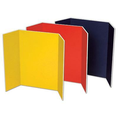 "Pacon Presentation Foam Board Tri-fold 48""x36"" 6/CT Assorted 3868"