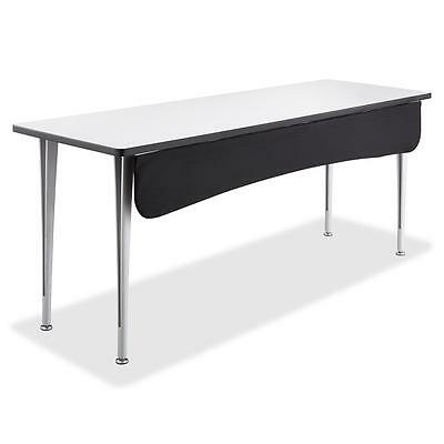 "Safco Modesty Panel f/Rumba Table 60""x-1-1/2""x9-1/2"". Black 2085BL"