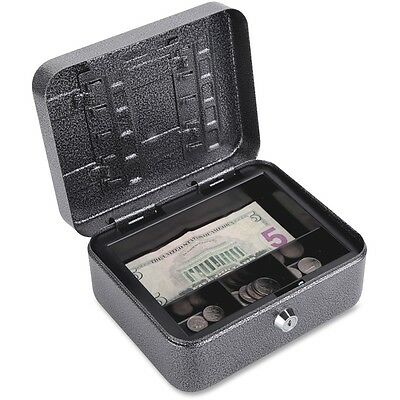 "FireKing Security Group Lock Box Cash/Key 7""x6-1/2""x3-1/2"" Black/Silver CB0806"
