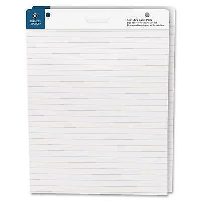 """Business Source Self-Stick Easel Pads Ruled 30 Shts 25""""x30"""" 2/PK WE 38593"""