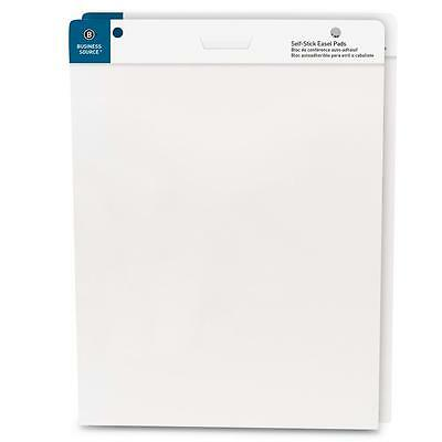 "Business Source Self-Stick Easel Pads 25""x30"" 30 Shts/Pad 2/PK White 38591"