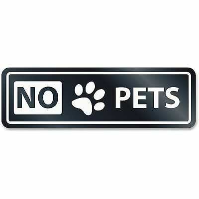 U.S. Stamp & Sign No Pets Window Sign White 9439