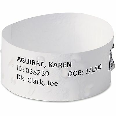 Avery East Band Medical Wristbands w/Chart Lbls, Med, 100/BX, WE 74432