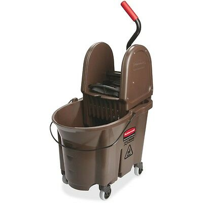 "Rubbermaid Commercial Products Mop Bucket Wringer 35Qt 15-1/2""x20""x23-1/2"" Brown"