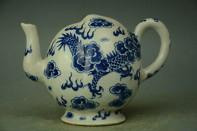 Beautiful Chinese Blue White Porcelain Backflow Pot