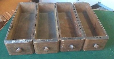 4 Vintage Wooden Drawers for Singer Sewing Machine Cabinet