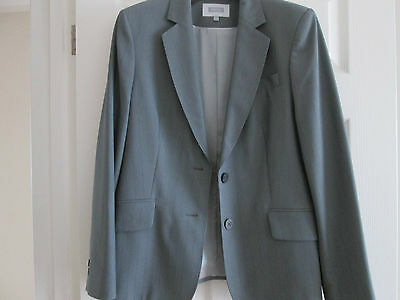 Ladies Next Trouser Suit ~ Size 14R ~ Grey Pin Striped