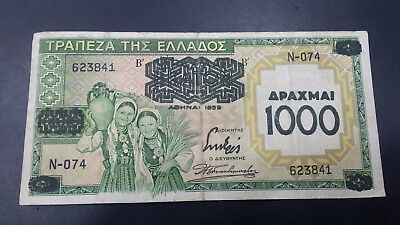 Greece 1000 Drachmai  1939  Banknote