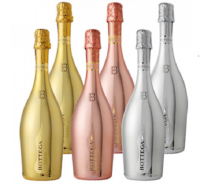 Bottega  Collection of Gold, Rosé Gold and White Gold 6 x 75cl