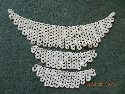 Vintage Crochet Ivory/Cream/Off White Collar & 2 Cuffs