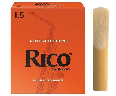 Rico 1.5 Alto Sax Reed Single Reed for Beginners