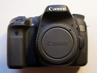Canon EOS 70D 20.2MP Digital SLR Camera - (Body Only) + extra battery and chips