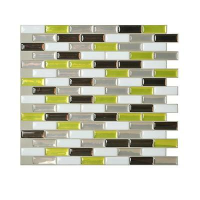 Smart Tiles SM1058-6 SELF-ADHESIVE WALL TILES 6/SHEET MURANO VERDE MOSAIK