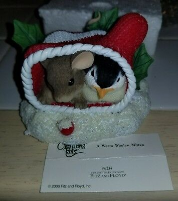 Charming Tails Warm Woolen Mitten 98234 Special Edition 2000 Fitz Floyd Mouse