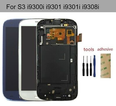 For Samsung Galaxy S3 Neo i9301i i9301 Display LCD Touch Digitizer Screen Frame