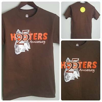 Fruit of the Loom Hooters 25th Anniversary Brown Owl Tee Shirt Unisex S/P **NEW*