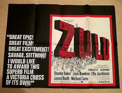 Zulu  -  Uk Quad Poster .