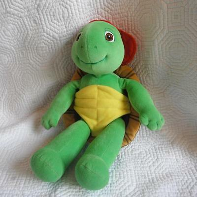 Stuffed Franklin Turtle Plush Toy Animal Red Hat Eden 14""
