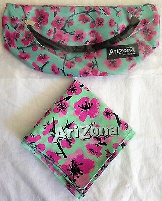 arizona GREEN TEA FANNY PACK + BANDANA lot of 2 accessories - NEW