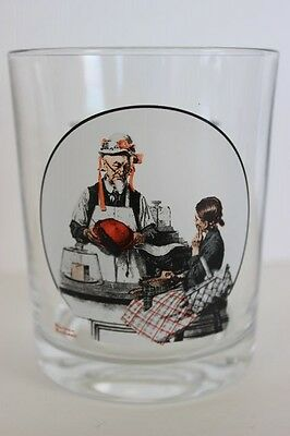 Vintage Norman Rockwell Drinking Glass Saturday Evening Post The Model Hats