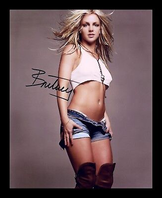 Britney Spears Autographed Signed & Framed Pp Poster Photo 3