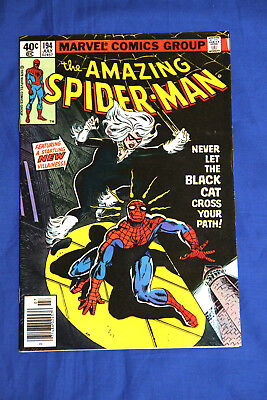 AMAZING SPIDER-MAN #194 -NEAR MINT 9.4- Newsstand Edition -1st App Of Black Cat-
