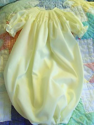 Ready To Smock Yellow Daygown Saque 0-3 Months