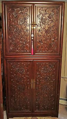 Chinese Antique Style Cabinet Armoire CARVED