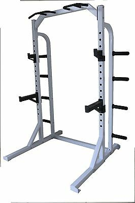 power cage squat rack chin up station