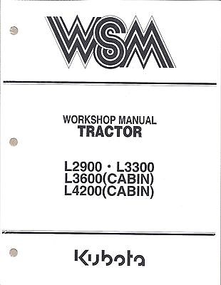 Kubota L2900, L3300, L3600, L4200 Workshop Service Repair Manual