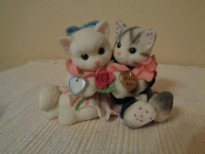 "Enesco Calico Kittens ""Cold Nose, Warm Heart"" Figurine"